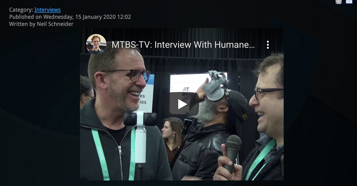 MTBS-TV: Interview With Humaneyes Technologies at CES 2020