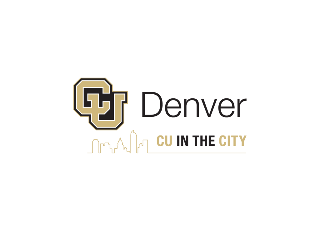 CU Denver Logo, the campus is located in downtown Denver and the logo includes a cityscape in the background. Skills, Development and Curriculum
