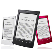 Picture of the Sony Reader product used to show the Reader Product Launch. launch tools, national scope, product features.